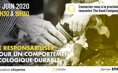 18/06/2020 – Se responsabiliser pour un comportement écologique durable