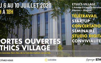 06-10/07/2020 – Les journées portes ouvertes de l'Ethics Village